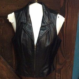 Wilsons vintage genuine Leather vest